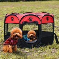 Taşınabilir Katlanabilir Pet Playpen Köpek Evi Sekizgen Kafes Kediler Çadır Kapalı / Açık Çıkarılabilir Örgü Gölge Kapak JK2012XB