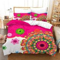 3d البوهيمي حاف الغطاء مجموعة الملك الحجم المعزي مجموعات الفراش بوهو أغطية السرير ماندالا السرير الكتان المنسوجات المنزلية نوم ديكو 1