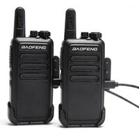 Walkie Talkie 2 шт. Baofeng BFC9 BF-C9 Mini BF-888S UHF-полоса USB быстрой зарядной портативной дорогой Way Ham CB Radio Communicator1