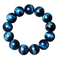 Cuentas, hebras tigre piedra natural de alta calidad azul ojo buda buddha pulseras redondos cuentas elasticidad hombres mujeres pulsera