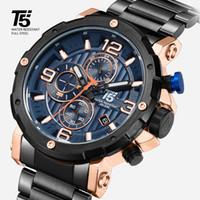 T5 철강 남자 시계, 석영 시계, 방수, 스포츠 시계