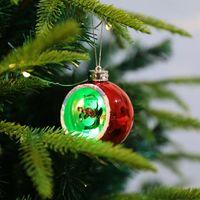 6 estilo luzes de Natal ornamentos de Natal galvanoplastia luzes luminosas de natal luzes Xmas presentes LED Xmas decorações CCD3314