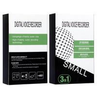 Q70 8GB 16GB 32GB gravador de voz de áudio mini escondido gravador de voz de áudio Gravação magnética profissional digital hd dictapone Denoise DHL