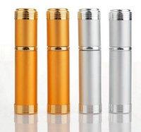 Pulverizador de alumínio Transparente Frasco de perfume de perfume Pulverizador Portátil Cosmetic Cosmetic Recipientes com