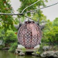 Güneş ışığı kontrolü otomatik indüksiyon bahçe dekorasyon lambaları açık su geçirmez retro demir lamba sıcak beyaz panel