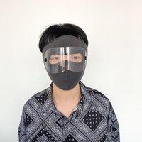 Occhiali lavabili e fasion maschera viso Un pezzo per adulti Knock-down riutilizzabile a prova di polvere calda e densa