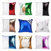 Sequins Mermaid Pillow Case Sublimation Cushion Cover 40X40cm Hot Transfer Printing DIY Decorative Sofa Pillows Case