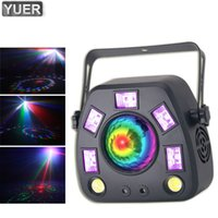 Più nuovo 50W LED RGBW 4in1 Kaleidoscope Lampada laser DMX512 Stage Laser Projector Sound Attivato Attivato Party Disco DJ Effect Light