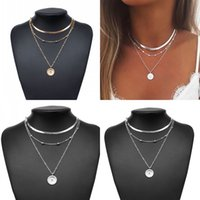 Lotus Pattern Lady Pendants Necklace Jewelry Men Women Plated Gold Multilayer Fashion Neck Chain Personality 1 95ld J2