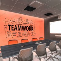 Classic Teamwork Office Wall Sticker Inspirational Quote Teamwork Cooperation Plan Vinyl Wall Decal For Office Decor Mural rb623 201130