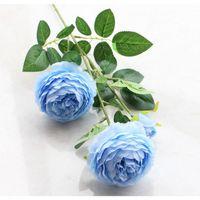 محاكاة الفاوانيا الاصطناعي زهرة المنزل الزفاف جميلة الديكور وهمية زهرة البلاستيك الفاوانيا زهرة الأوروبي ثلاثة برأس الفاوانيا EEF3513