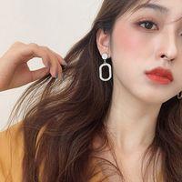 Cavo rettangolo orecchio borchie sole fiore strass orecchini in cristallo in lega oro argento placcatura donne fascino fascino per oardrop 2 4SFC L2