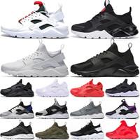 huarache 4.0 1.0 erkek kadın ayakkabı oreo üçlü siyah beyaz gri moda huaraches erkek bayan nefes eğitmenler açık spor ayakkabı