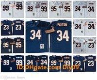 Vintage # 132; Chicago # 132; orsi # 132; maglie di calcio 34 Walter Payton 99 Dan Hampton 95 Richard Dent 23 Devin Hester 9 Jim McMahon White N