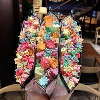 طفل الأميرة المشابك جميلة لطيف الزهور تاج الأطفال أطفال دبوس كوريا قبضة الأزياء pinkycolor اكسسوارات للشعر الساخن بيع 5xy m2