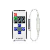단일 컬러 원격 제어 디머 DC 12V 11KEYS 미니 무선 RF LED 컨트롤러 LED 스트립 라이트 SMD 5050 / 3528 / 5630
