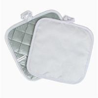 Sublimación en blanco Bricolaje Cojín de cocina placa de cocina maceta aislante alfombrilla almohadillas de resistencia de alta temperatura. Decoración de mesa 6yp G2
