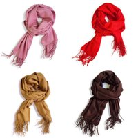 Borlas pashmina bufanda otoño invierno nuevo patrón de color sólido mujer chal moda suave regalo cálido bufandas venta caliente 5 38zk m2