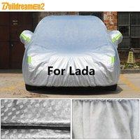 Okładki samochodowe Buildremen2 dla Lada Niva 4x4 Kalina Vesta Samara 110 111 112 Largus Gruba okładka Słońce Rain Snow Hail Protect Wodoodporna Cover1