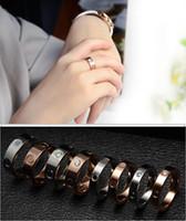 패션 쥬얼리 스테인레스 스틸 사랑 다이아몬드 반지 쥬얼리 결혼 반지 여성 여성용 선물 약혼 미국 크기 (5-11)
