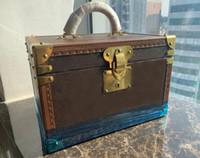 Nouvelle femme classique Femmes 34cm Boîte de bijoux Maquillage Maquillage Boîte en bois Deux Sacs Sacs Sacs Embrayage Handbag Kit de voyage Bijoux Organisateur Porte-monnaie