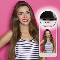Makeup Mirror USB Мобильный телефон Световой клип Selfie LED Auto Flash Для сотового телефона Смартфон Круглый Портативный Selfie Фонарик