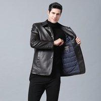 Down de cuero pluma corto Canadá ropa de trabajo al aire libre gruesa chaqueta de invierno de hombre caliente KG-223