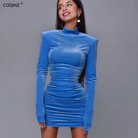 Sexy Bodycon Frau Bandage Kleid Winter Langarm Elegante Kleider Frauen Party Nachtclub 2020 Black Designer Kleidung 23316P