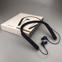 Famouse Neckband مصمم سماعات سماعات سماعات عالية الجودة سماعات لاسلكية بلوتوث سماعة الرياضة نمط أسود اللون