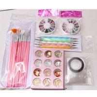 NAK001 Sıcak Satış Tırnak Boyama Kalem Fırçası Manikür Dosya Çiviler Rhinestone Takı Akrilik Nail Art Kit Çiviler Aracı Set Kullanımı Kolay