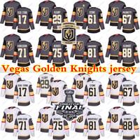 Vegas Goldene Ritter Jersey 29 Marc Andre Fleury 61 Mark Stone 75 Ryan Reaves 71 William Karlsson 81 Jonathan Marchessault Hockey Trikots