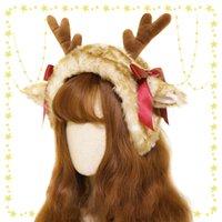 2020 Oryginalny Chunnai Deer Boże Narodzenie Lolita Pluszowe Renifer Frontier Levi Ucha Pole Field Opaska KC Earmret