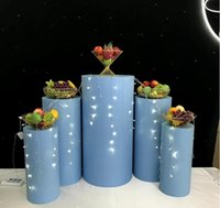 Cilindro de metal Pilar Soporte Rack Pastel de boda Artesanía Artesanía Decoración Pedestal de boda Columnas para mariage Soporte Fiesta Evento Suministros Barra de caramelo