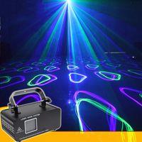 Blue Laser Lighting RGB Full Color Animation Stage Lighting Effect Laser Projector KTV Bar Christmas Festival DMX Control DJ Party Light