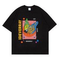 T-shirt Butterfly Uomo Donne Neck Collo Turno Gastronde da uomo Gastronde da uomo Hiphop Tee Shirts Man Ploth