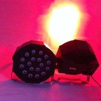 18W 18-LED RGB Auto- und Sprachsteuerungsparty-Bühnenbeleuchtung Schwarz Top-Grade-LEDs Neue und hochwertige Par-Lichter