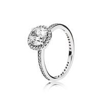 Anel de diamante de jóias de prata 925, casamento de Pandora para meninas, homens e mulheres noivado