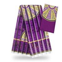 2020 high quality silk wax hot sale african wax print design organza silk wax fabrics ribbon material for wedding dress T200529