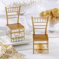 Cadeau cadeau Gold Stye Party Favor Favor Forme Boîtes Boîtes en plastique PVC Clear Candy pour 50PCS1