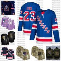 2021 Reverse Retro 사용자 정의 23 Adam Fox New York Rangers Hockey Jersey Golden Edition Camo Betersans Day 싸움 암 스티치 저지