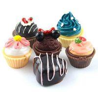 Cupcake labelo lustre bálsamo 6 flavored glosses bálsamo secreto de natal santa lipgloss batom chocolate chocolate cereja morango creme freeshipping