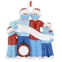 DIY Christmas Ornamente Anhänger 2020 Harz Schneemann Gesichtsmaske Dekorationen Hängende Segen Worte Haushalt Anhänger Heißer Verkauf 9 5ZN G2