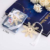 20PCS Snowflake Bookmark with Tassel Wedding Favors Birthday Gifts Bridal Shower Snowflake Theme Event Keepsake Party Decor Ideas