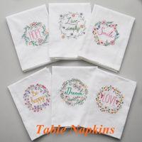 asciugamano ricamato Tea asciugamani in cotone Tovaglioli tovaglioli della cucina della casa Servetten Wedding Cloth Tovaglioli tazza del vino, LLS8 di alta qualità