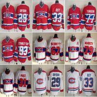 Montreal 33 Patrick Roy Jerseys Canadiens 67 Max Paciornetty 31 Carey Preço 29 Ken Dryden 77 Pierre Turgeon 93 Stanley Cup Vintage Clássico