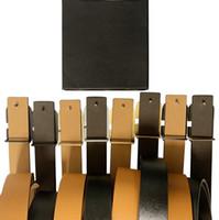 concepteur ceinture largeur 4.0cm ceinture en cuir ceintures de mode casual lisse boucle pour les hommes Cintura, la ceinture des hommes, la ceinture des femmes et la boîte Livraison gratuite