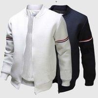 망 디자이너 재킷 순수한 컬러 스탠드 칼라 리본 장식 긴 소매 슬림 피트 패션 봄 코튼 필수 코트