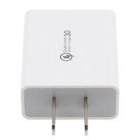 Quick Charge QC 3.0 USB Şarj ABD Duvar Cep Telefonu Şarj Adaptörü 5V 2A Hızlı iPhone Huawei Samsung 100pcs için Şarj / lot