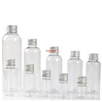 Strumento trucco vuoto 5ml 8ml 10ml 20ml 30ml PET PET Plastica Bottiglia di plastica con tappo in alluminio Pot cosmetico Barattolo ricaricabile 200 Pz / lotpls ordine