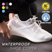 재사용 가능한 안티 스키드 신발 커버 실리콘 방수 방수 신발 옥외 overshoe 신발 빗물 보호자 가정용 U151